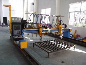 China Automated Industrial Plasma CNC Cutter Machine With Hypertherm Power / Servo Motor on sale