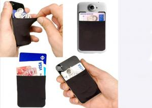 China OEM Fashion Silicone Gift Credit Card Holder For Cell Phone / Mobile Phone on sale