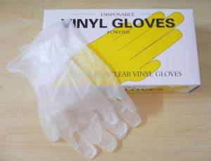 China Powder Free or powdered Disposable vinyl Gloves, protection PVC glove, ISO CE approved. on sale