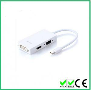 China 3 in 1 Mini DisplayPort to H DMI + VGA + DVI Converter Adapter Cable for Apple MacBook MacBook Air MacBook Pro iMac on sale