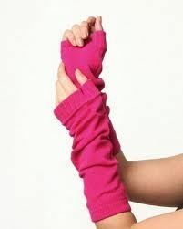 China OEM Fashion soft Pink Knitted Women's Arm Warmer , Fingerless Gloves with lightweight on sale