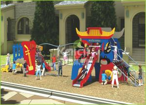 China Kids popular Chinese opera interesting play slide and climbing outdoor playground supplier
