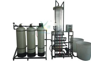 China SS 304 Ion Exchange Water Softener Systems Mixed Bed Filter 3000LPH Fiber Glass on sale