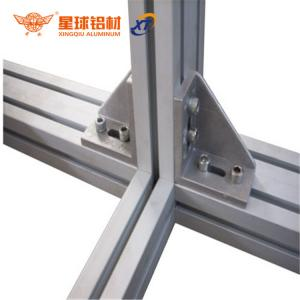 China anodized aluminum profile bracket for 6mm, 8mm, 10mm slot profile & workshop workbenc aluminum I bracket on sale