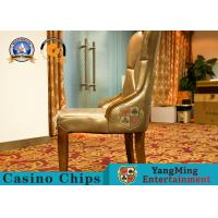 China Fixed Armrest Modern Casino Gaming Chairs / Solid Wood Dining Chair on sale