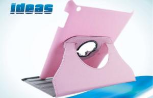 China Pink Tablet PC Apple iPad Handmade Leather Cases without Keyboard on sale