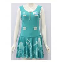 China Fashionable Sports Wear Sublimated Netball Dresses 180gsm-220gsm Lycra Fabric on sale