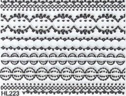 China Assorted Professional French Lace Black White Decal 3D nails art accessories Sticker on sale