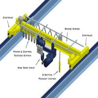 3ton single girder overhead crane for sale with CE