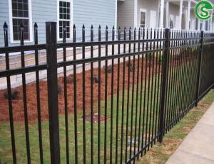 China 6ft high 8ft wide decorative galvanized steel picket fencing for residential on sale