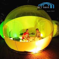 China Transparent Inflatable Bubble Tent For Outdoor Camping Site With Air Blower on sale