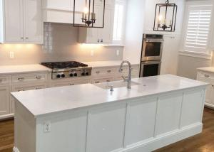 ... Quality Glossy Natural Man Made Quartz Countertops With Beautiful  Stripe For Sale