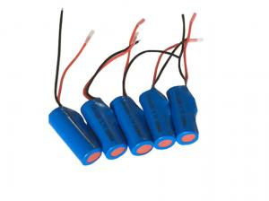 China Eco - Friendly Cylindrical Lithium Ion Cell , Lithium Cylinder Battery 3.7V 200mAh on sale