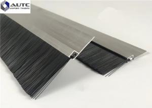 China Draft Seal Metal Channel Strip Brushes Bottom Window Door Stainless Steel on sale