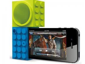 China Portable Custom Silicone Speaker For Mobile Phone , Harmless Silicone Amplifier on sale