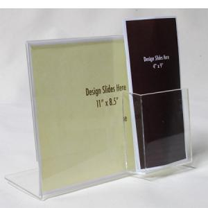 China Perspex Acrylic Menu Holder On Table , Clear Acrylic Brochure Holders on sale