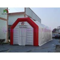 Red / White Durable PVC Tarpaulin Blow Up Event Tent Amazing Space For Party / Camps