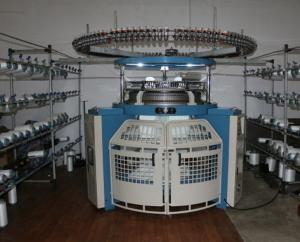 China Single Jersey Circular Weft Knitting Machine For Reversed Velour Shearing Fabrics on sale