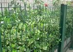 Green Welded Wire Garden Fence Decoration With 1.5-3.0m Width