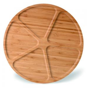 China divided large round wood bamboo snacks fruit serving tray on sale