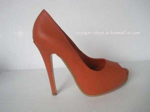 China Red Peep-toe High Heel Pumps supplier