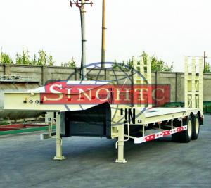 China 40 T 2 Axle Low Bed Semi Trailer High Strength Steel Material 8 Pcs Tyre on sale