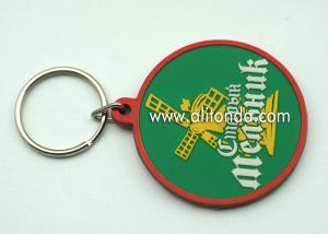 China Wholesale promotional custom design building PVC blank keychain with animal dog image printed on sale