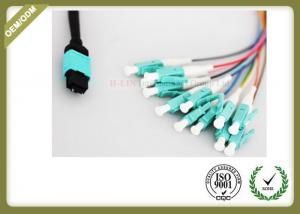 China 8 / 12 Core Om3 Fiber Optic Cable To LC Termination PVC LSZH Jacket on sale