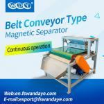 Belt Type Magnetic Roll Separators For Silica Sand / Ceramics Powder / Steatite Powder plastic particles medicine