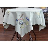 Multiple Colors Dining Table Cloth , Chemical Fiber Embroidery Table Cloth