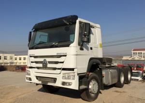 China White Heavy Duty Dump Truck 6X4 Sinotruck HOWO Tractor Head Trailer on sale