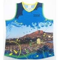 Digital Printing Basketball League Jerseys 100% Polyester Men / Woman Dri Fit T Shirt