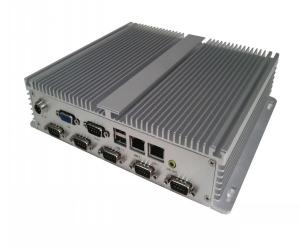 China White / Black Intel ATOM D525 Fanless Box PC For Industrial, Transportation IBOX-525 on sale