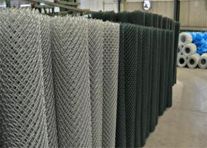 China 1- 4 Chain Link Fence Fabric Aperture And Galvanized Iron Wire Material 9 Gauge on sale