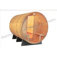 Home Steam Bath Cabin , Weather Resistant Cradles Barrel Steam Sauna