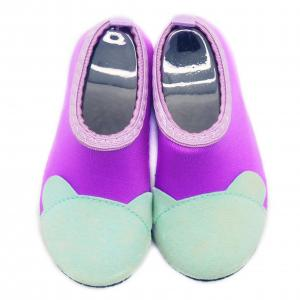 Quality Protective Barefoot Kids Aqua Water Shoes Purple Bare Toe Pattern Various Size for sale