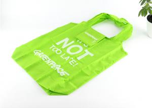 China Green Color Custom Logo Foldable Reusable Tote Bags For Promotional Use--aa on sale