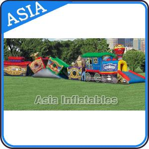 China PVC Tarpaulin Circus Train Inflatable Theme Park High Durability on sale