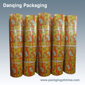 China Full Color Plastic Laminating Roll Film Roll Stock For Food Packaging on sale