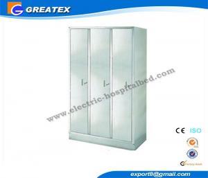 China Multi Purpose Large Capacity Steel medical storage cupboards Wardrobe with Metal Locker on sale