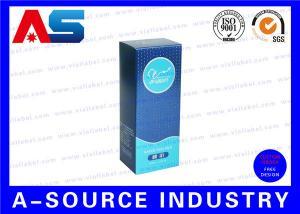 China 10ml Vial Storage Box Matt Finish Carton Paper Blue WIth UV Spot Braille Box on sale