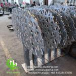 10mm Powder Coated Metal Facade Panels ,  Hollow  Perforated Metal Facade