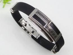 China Custom Designed Rubber Silicon Bracelets 1750015  on sale