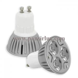 China High Lumen 3x1W 3w Gu10 high power Led Lamp Light Spotlight on sale