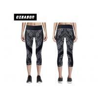 Custom Pritned High Waist Yoga Pants For Adult / Kids Moisture-wicking