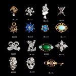 diamante artificial ML110-124 del brillo de la joyería de la aleación de la decoración del arte del clavo 3D