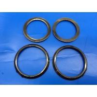 Anti Crack Black Ceramic Seal Rings / Ceramic Watch Bezel Curved  Approved