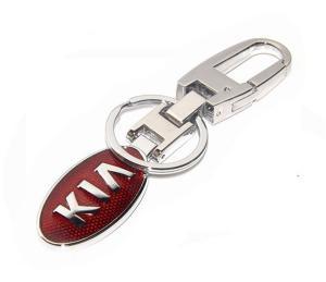 China Premium KIA car logo brand key chain, Korean auto brand Kia logo key holder for men gifts, on sale