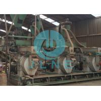 Crushing process with a wood chipper chipping wood in wood pellet plant