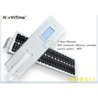 Waterproof Outdoor Solar Street Lights 30w With Cctv Camera ROHS ISO CE